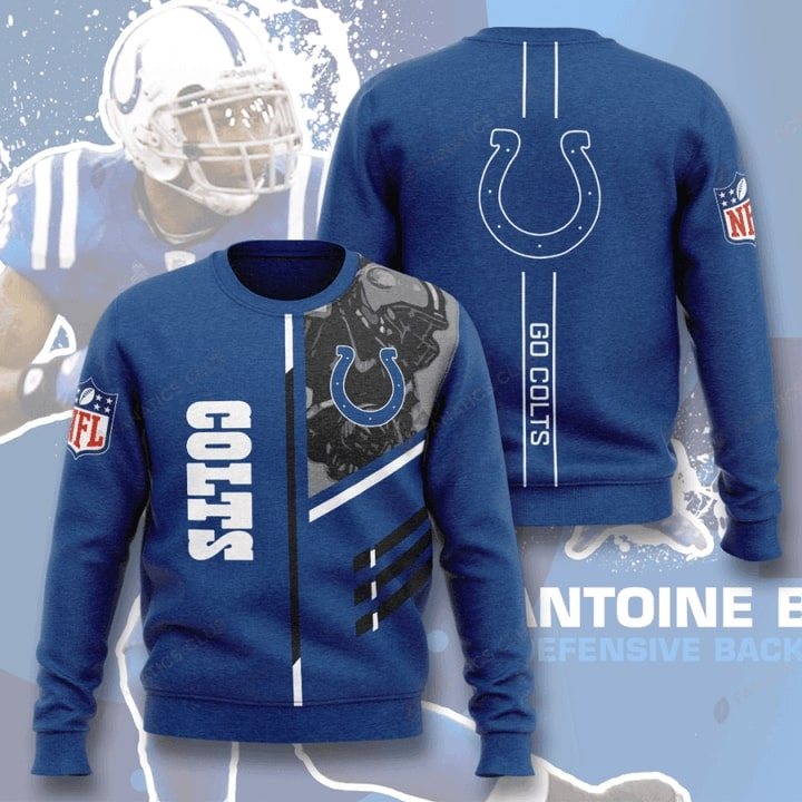 Indianapolis Colts Go Colts Full Printed Sweater