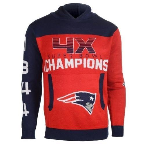 The New England Patriots Super Bowl Champions  Full Printed Hoodie