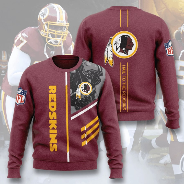 Washington Redskins Hail To The Redskins Full Printed Sweater