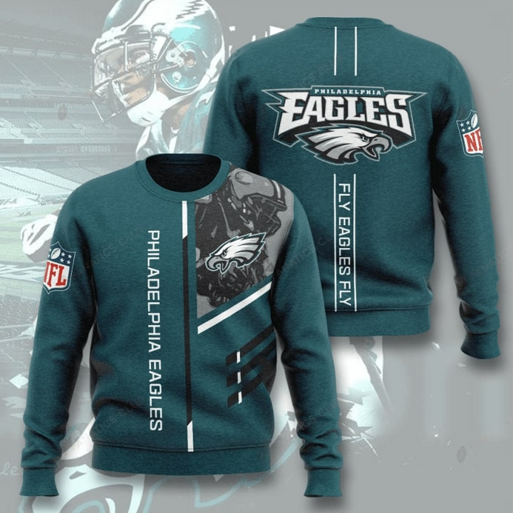 Philadelphia Eagles Fly Eagles Fly Full Printed Sweater