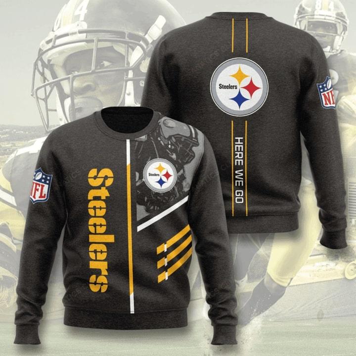 Pittsburgh Steelers Here We Go Full Printing Sweater