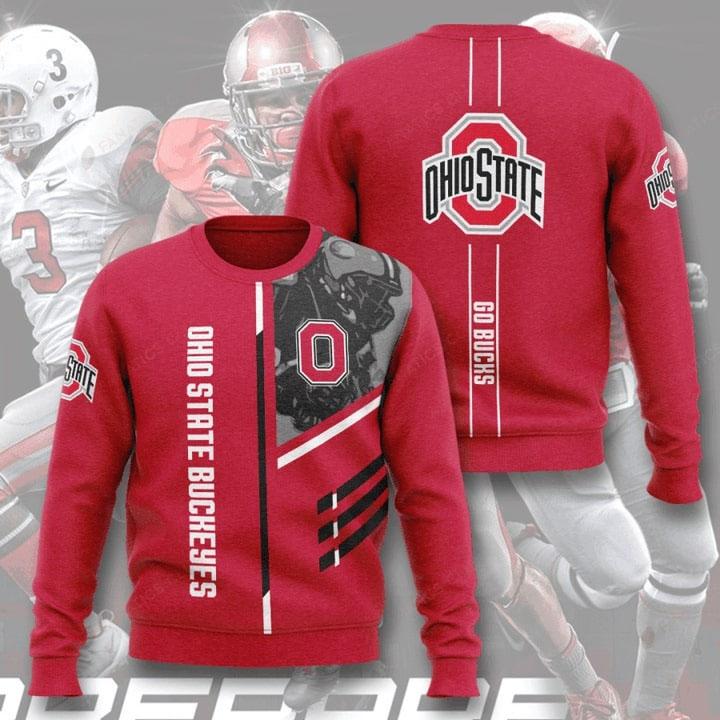 Ohio State Buckeyes Football Go Bucks Full Printed Sweater
