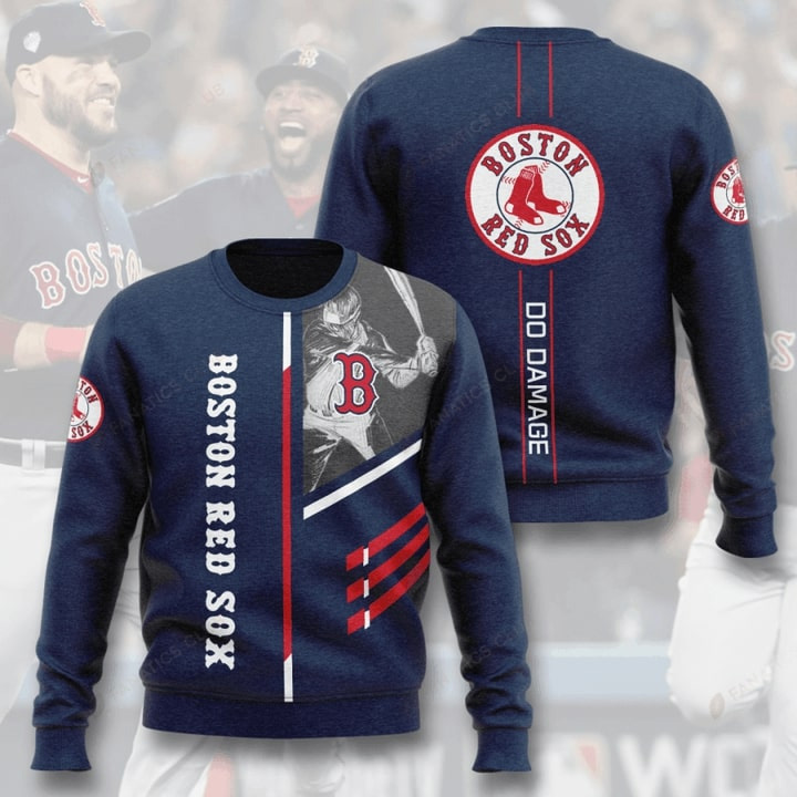 Boston Red Sox Do Damage Full Printed Sweater