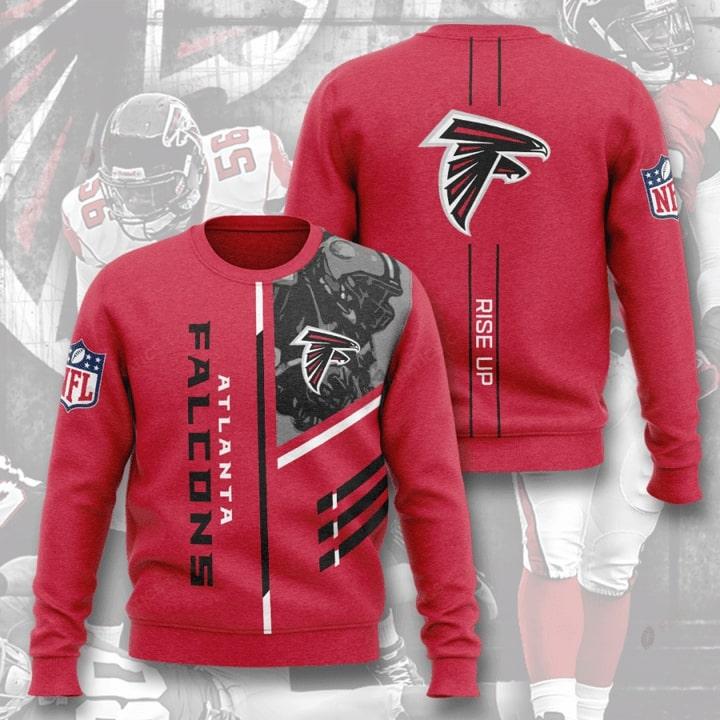 Atlanta Falcons Rise Up Full Printing Sweater