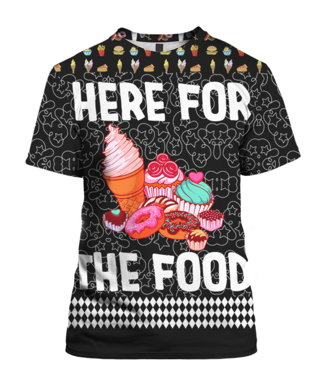 Here For The Food 3D Ugly Christmas Sweater Hoodie
