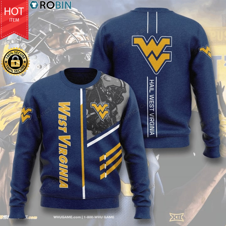 West Virginia Mountaineers Football Hail West Virginia Full Printed Sweater