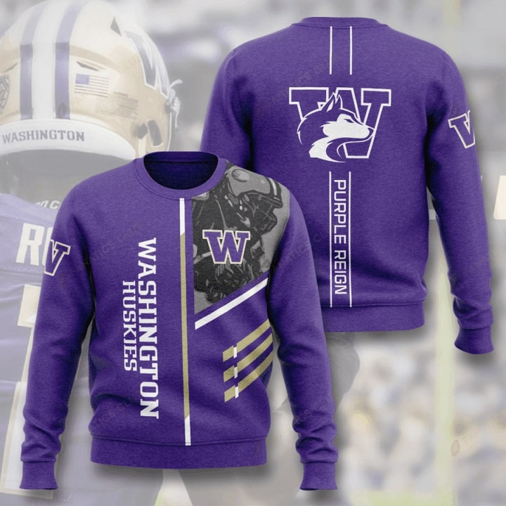 Washington Huskies Football Purple Reign All Over Print Sweater