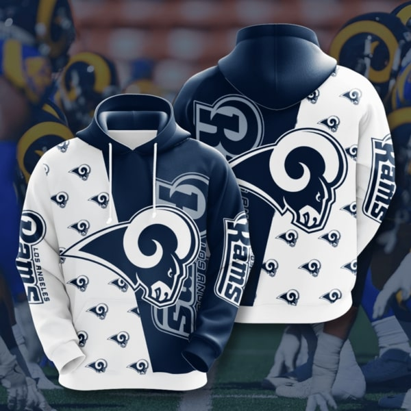 The Los Angeles Rams Football Team Full Printed Hoodie
