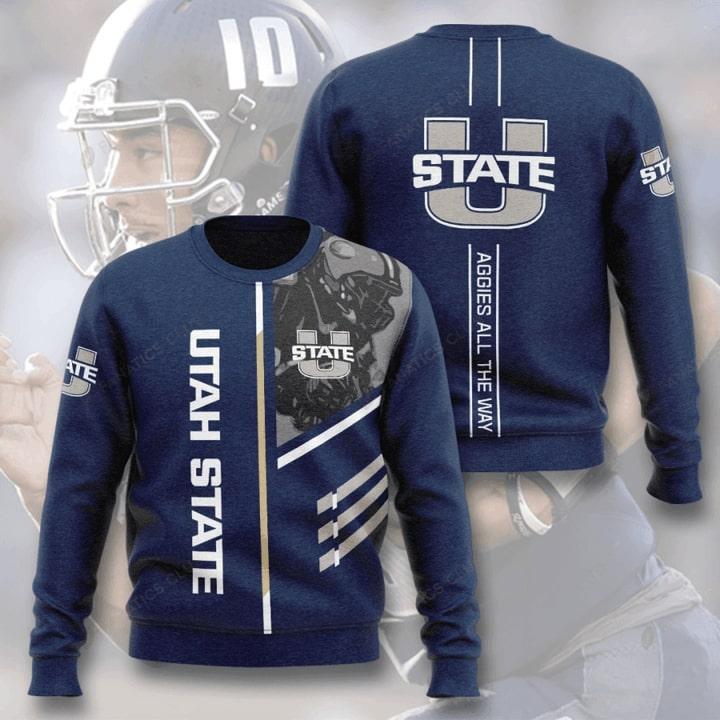 Utah State Aggies Football Aggies All The Way Sweater