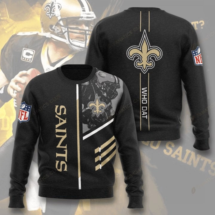 New Orleans Saints Who Dat Full Printed Sweater
