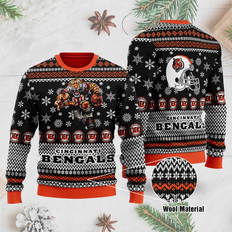 Cincinnati Bengals 3D Printed Ugly Christmas Sweater