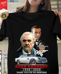 007 Sean Connery 1930 2020 Thank You For The Memories T Shirt