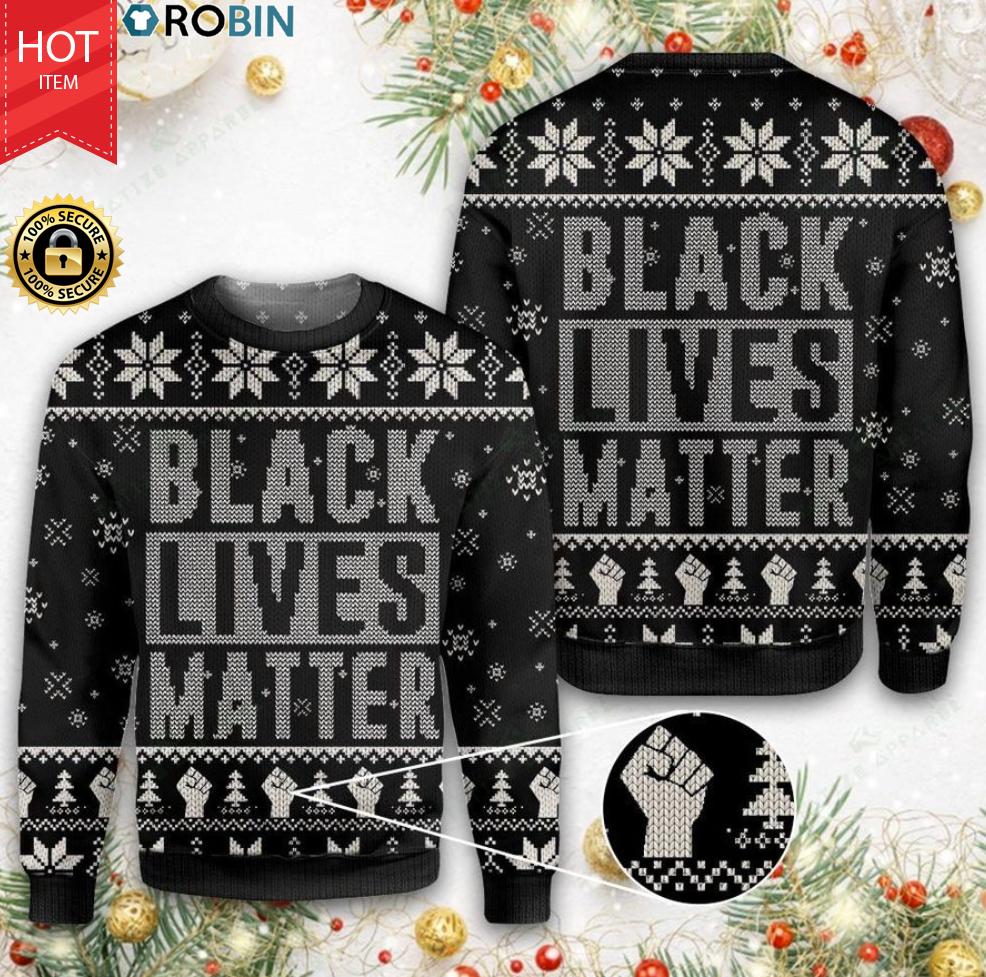 Black Lives Matter Christmas Wool Sweater