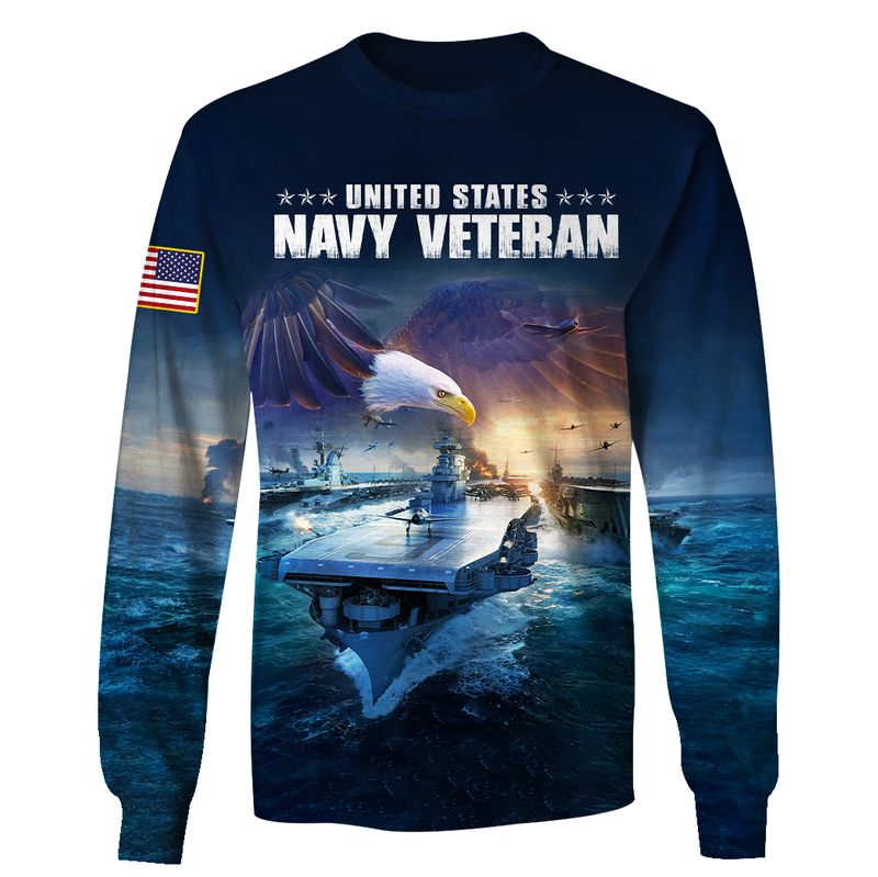 Eagle Naval Ship US Navy Veteran Once Navy Always Navy AOP Hoodie, T Shirt, Bomber