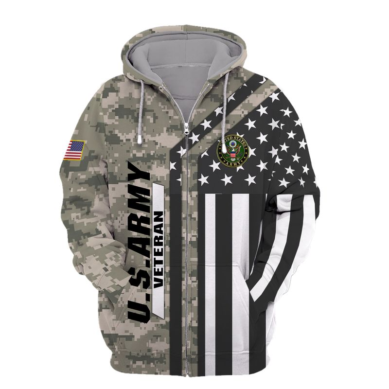 Us Army Veteran Bald Eagle Camouflage Hoodie, T Shirt, Bomber Full Printed