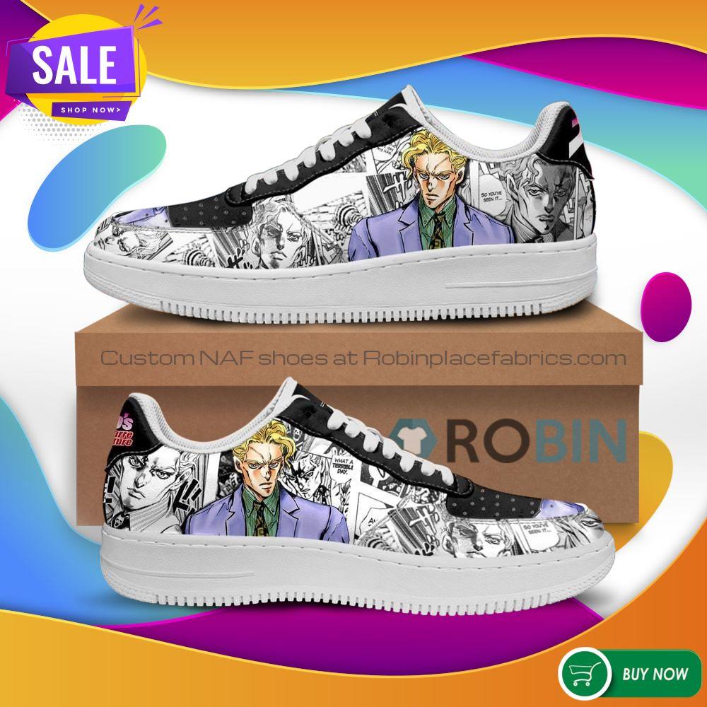 Yoshikage Kira Air Force Sneakers Manga Style JoJo's Anime NAF Shoes