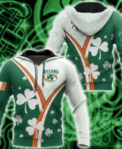 Irish St.patrick Ireland 3d Hoodie, T Shirt