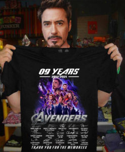 09 Years 2012 2021 Avengers Signature Thank You For The Memories