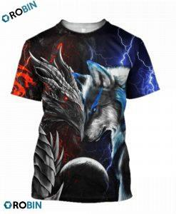 Dragon-and-wolf-3d-print-t-shirt