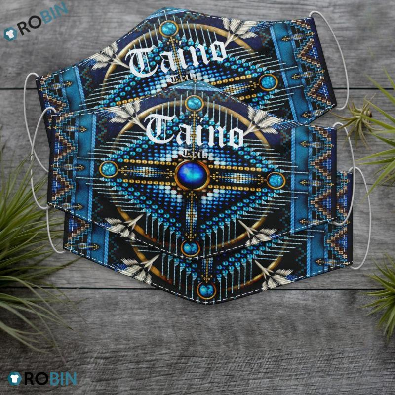 Native American Saint Taino Tribe Face Mask + Filter Sheet