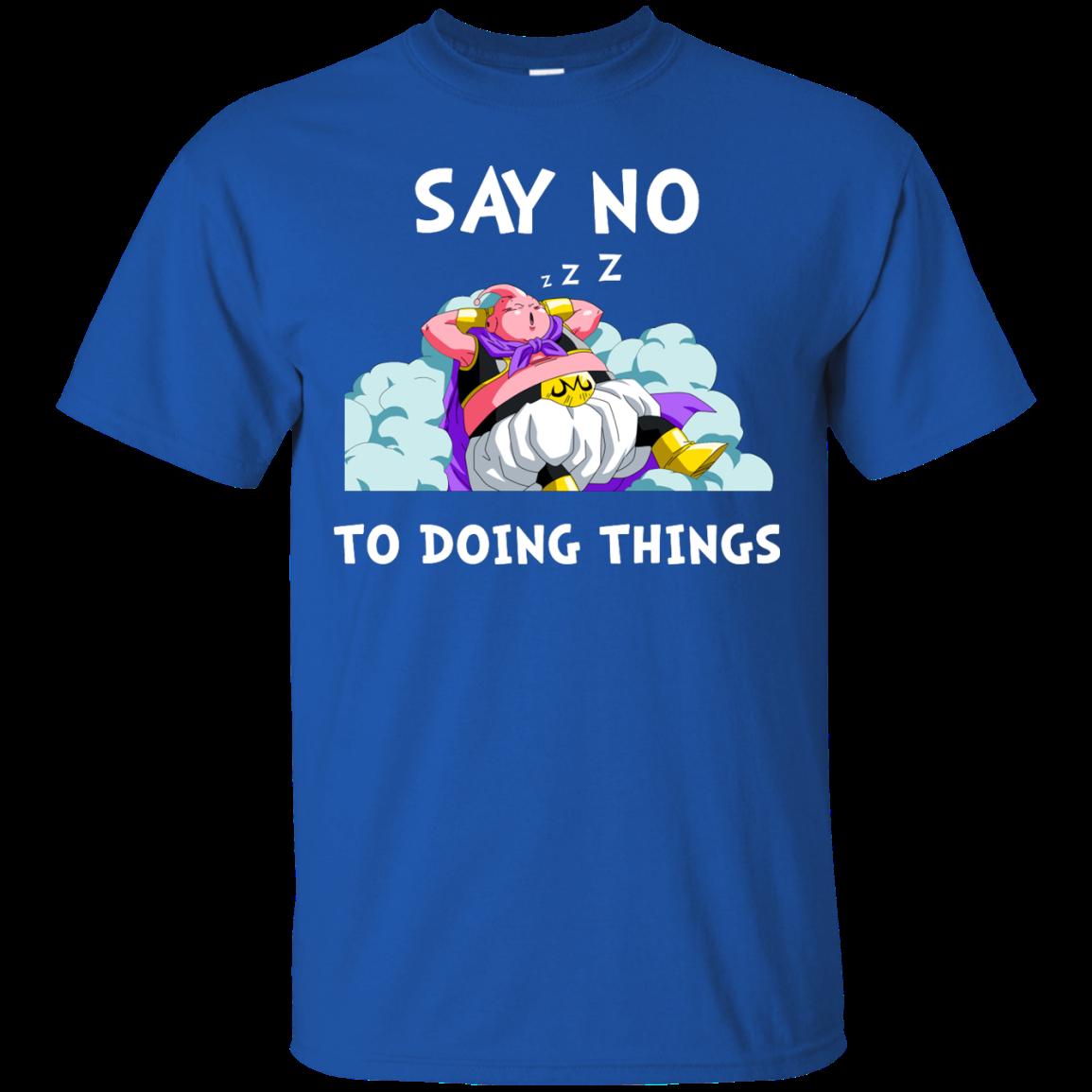 Majin Buu DragonBall Shirts Say no to doing things T shirt,Tank top & Hoodies