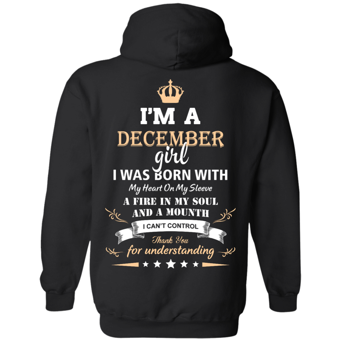 02433851e Im a december girl shirts - I was born with my heart on my sleeve a ...