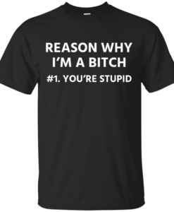 Funny - Reason why I'm a bitch - You're stupid #1 t-shirt,tank,hoodie,sweater