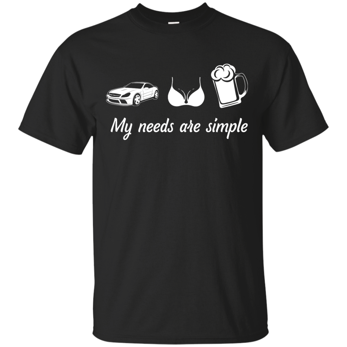 My needs are simple Camaro Boob Beer t shirt,tank,hoodie,sweater