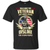 Walk Away This Veteran Has Anger Issues And A Serious Dislike For Stupid People t-shirt, tank, hoodie, sweater
