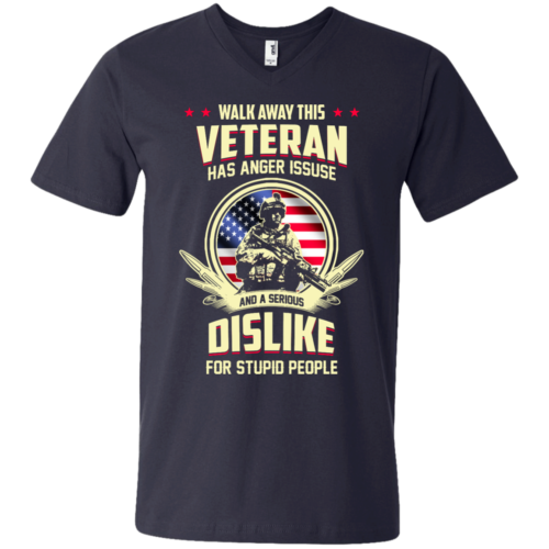 Walk Away This Veteran Has Anger Issues And A Serious Dislike For Stupid People t shirt, tank, hoodie, sweater