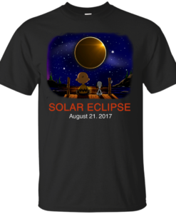 Snoopy and Charlie Brown: Solar Eclipse August 21, 2017 unisex t-shirt, tank, hoodie