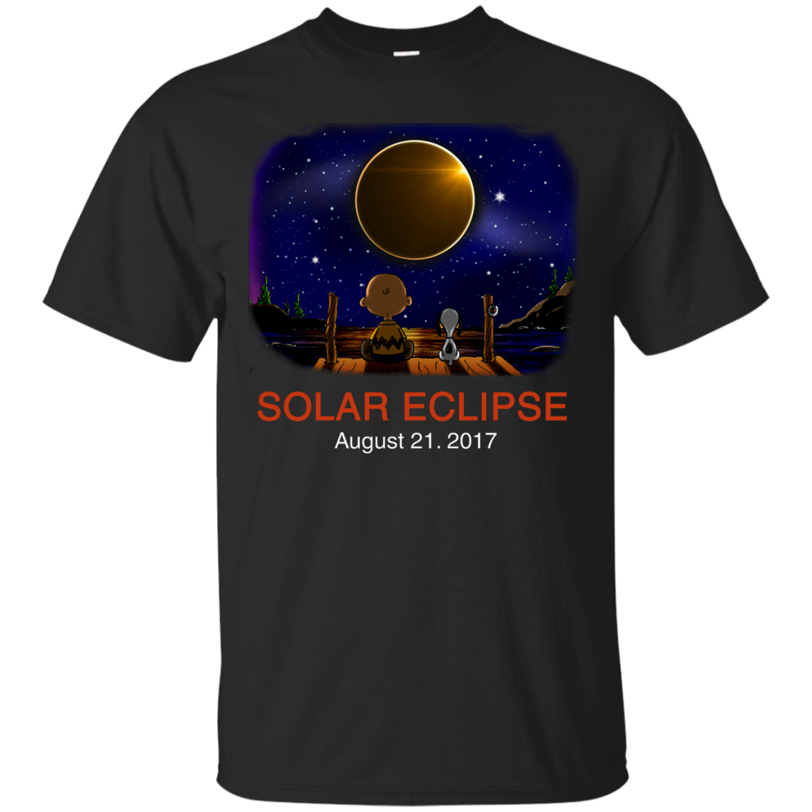 Snoopy and Charlie Brown: Solar Eclipse August 21, 2017 unisex t shirt, tank, hoodie