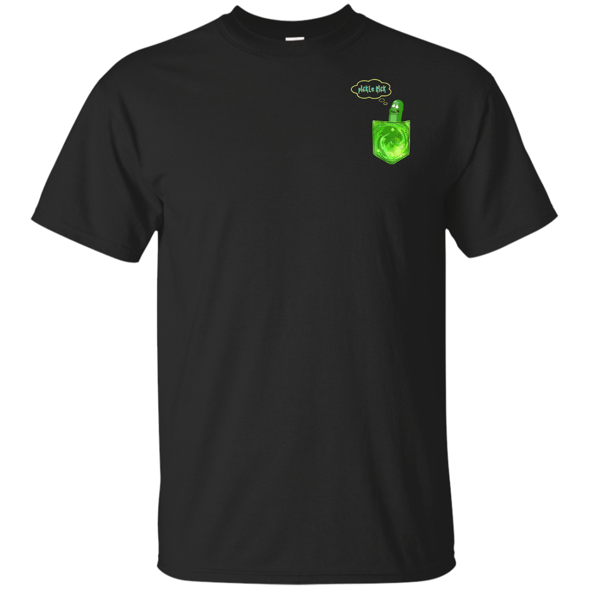 Pickle Rick (pocket) shirts, tank, hoodie