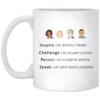 Inspire like Michelle Obama - Challenge like Clinton Coffee Mugs