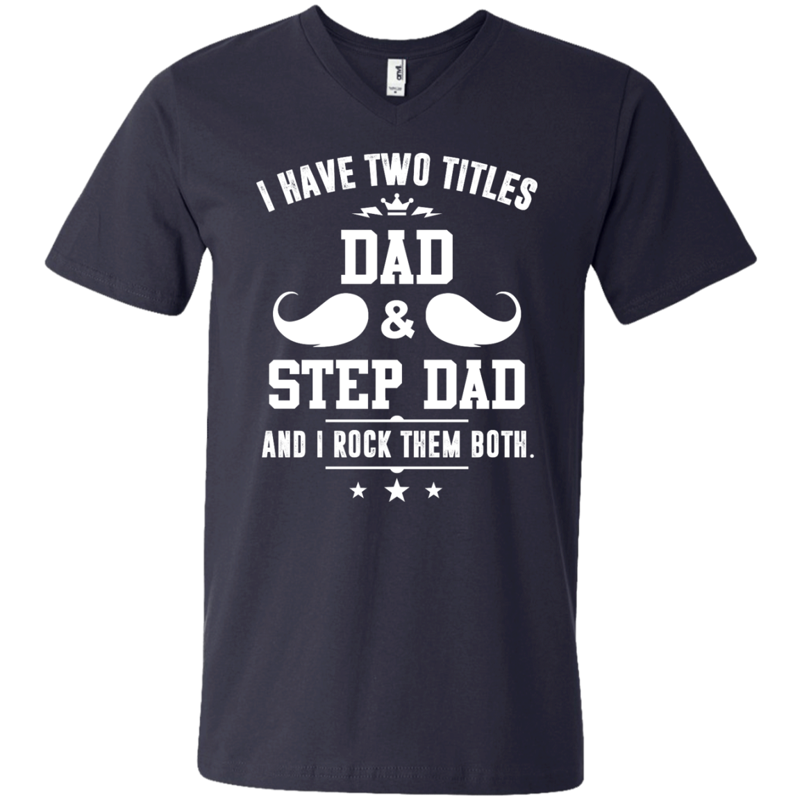 982 Anvil Men's Printed V-Neck T-Shirt
