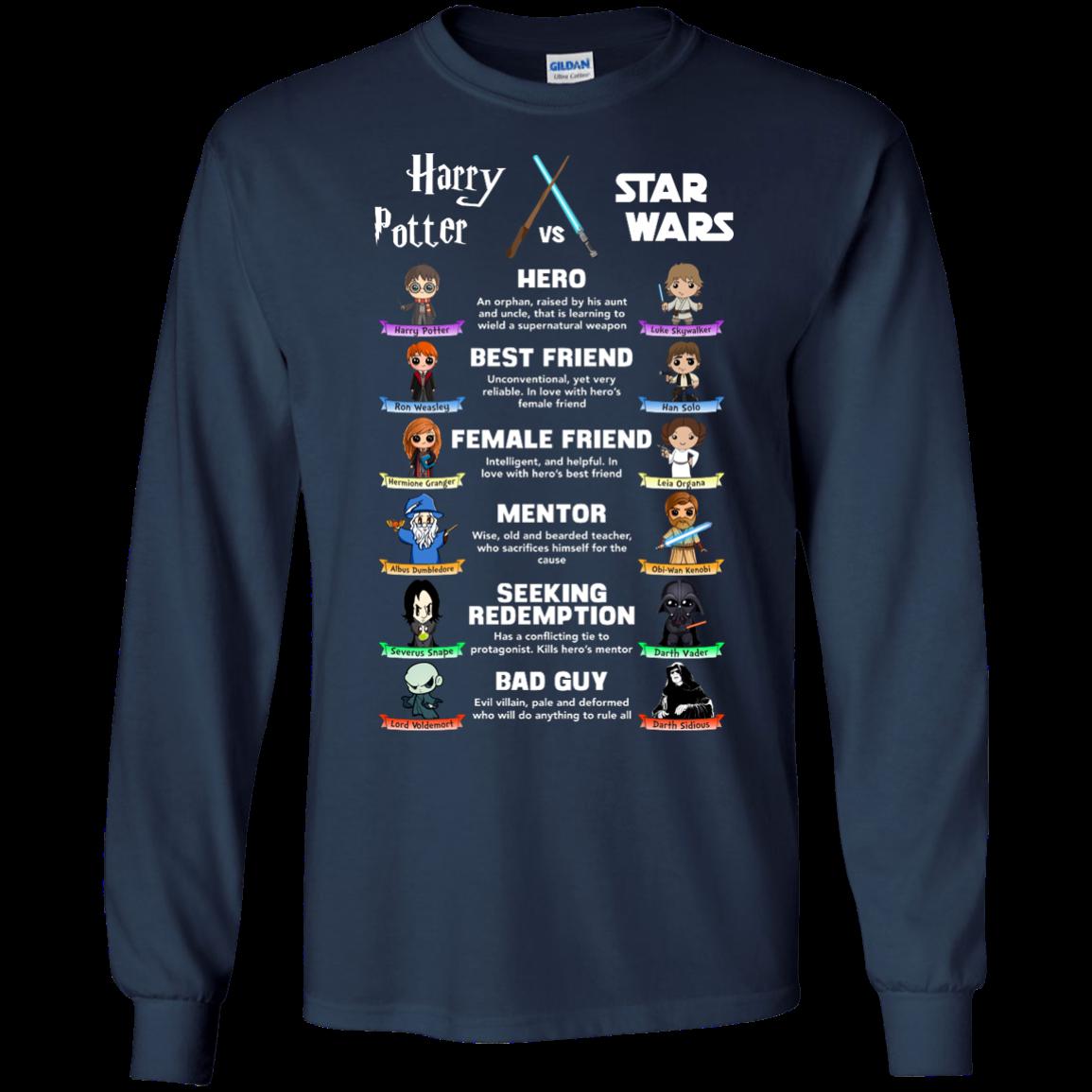 Harry Potter vs Star Wars unisex t shirt, tank, hoodie, long sleeve