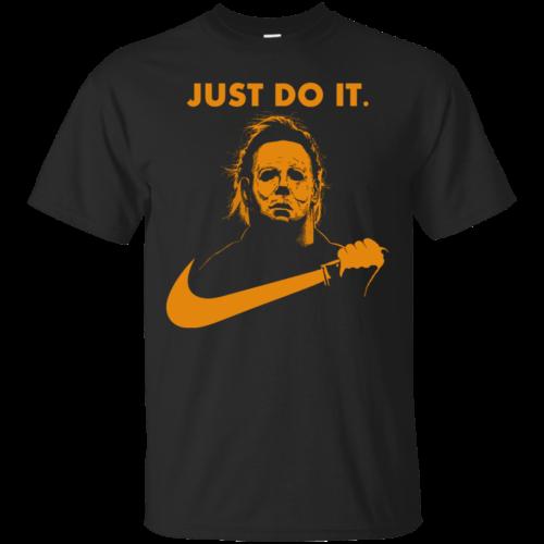 Michael Myers Halloween Just Do It (Orange Design) tshirt, vneck, tank, hoodie