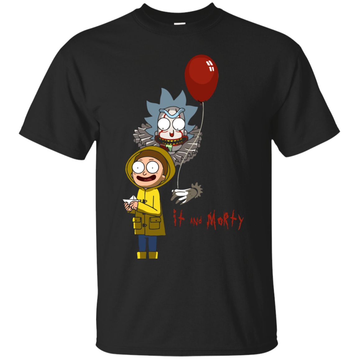 Rick and Morty - IT movie and Morty tshirt, vneck, tank, hoodie