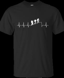 Hiking T-Shirt: Hiking Heart Beat T Shirt, Hoodies, Tank Top