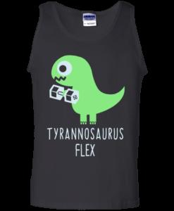 Tyrannosaurus Flex Tank Top, T-Shirt Dinosaur Lifting, T rex