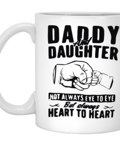 Daddy and Daughter Not Always Eye To Eye Mug