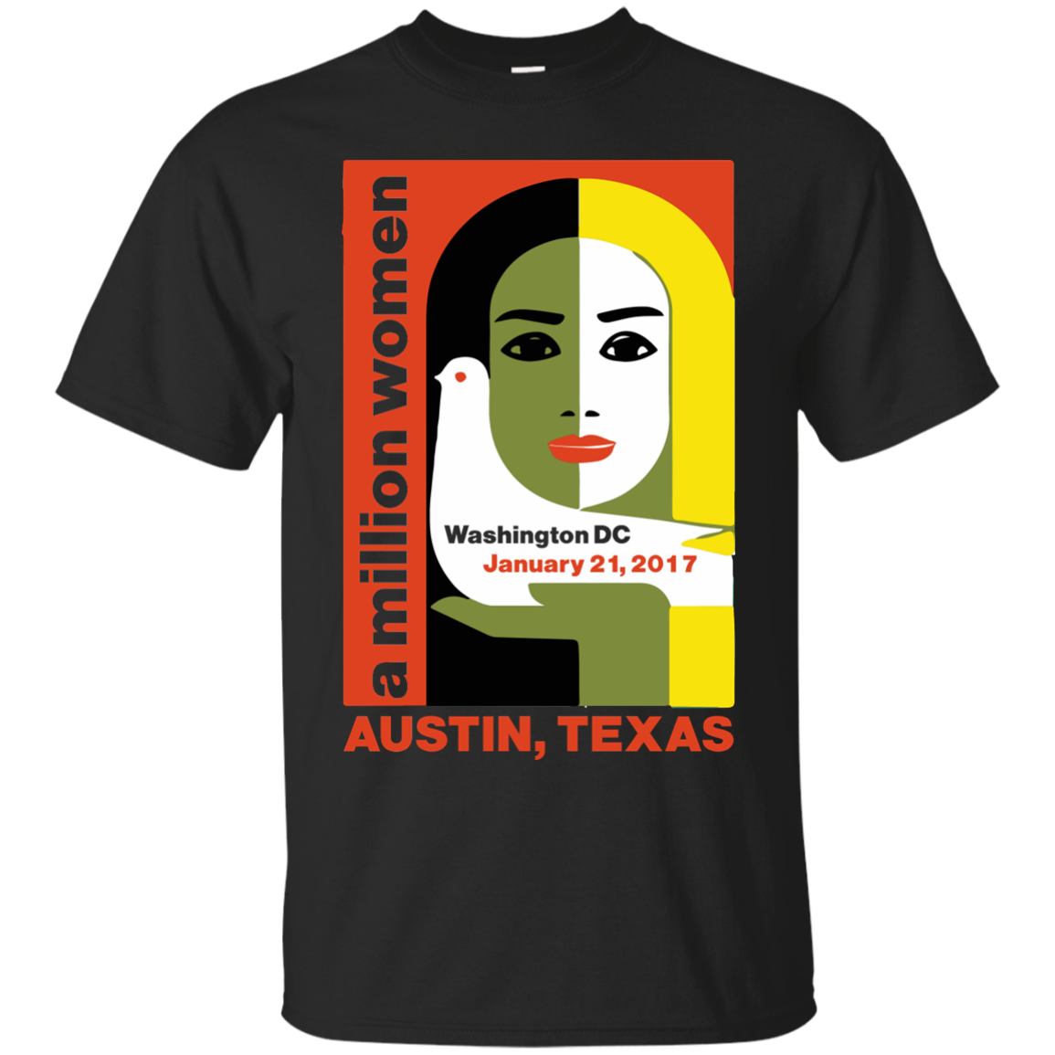Women 39 s march on austin texas 2017 t shirt for Custom t shirts austin texas
