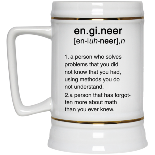 Engineer Definition Funny Coffee or Tea Mug