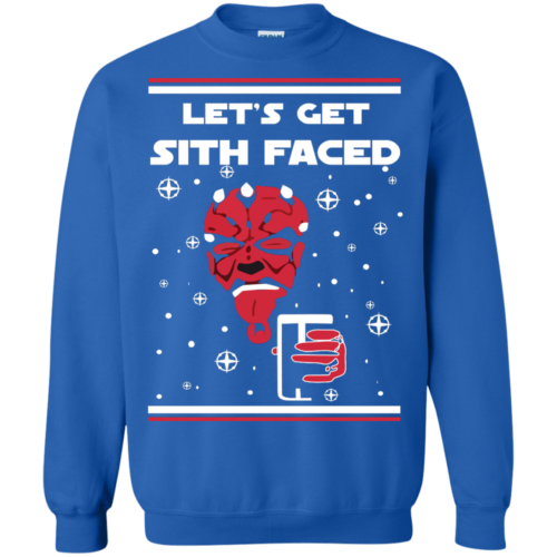 Star Wars Christmas Sweater Lets Get Sith Faced Shirt, Long Sleeve