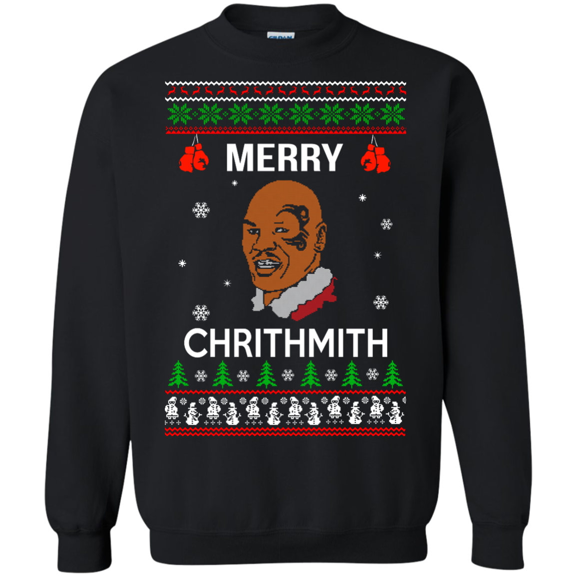mike tyson merry chrithmith christmas sweater long sleeve shirt