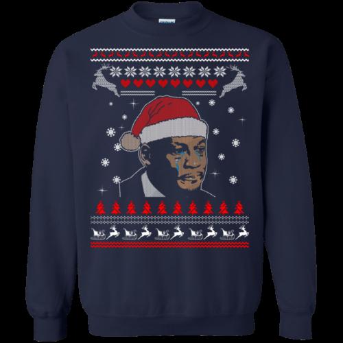 Crying Jordan Christmas Sweatshirt