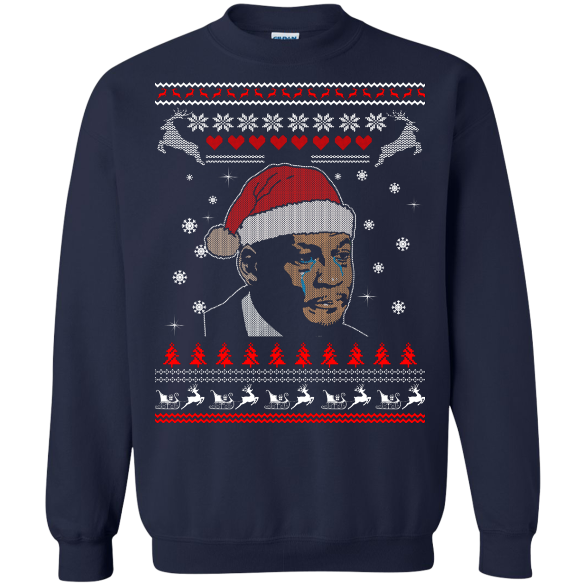 Crying Jordan Christmas Sweatshirt