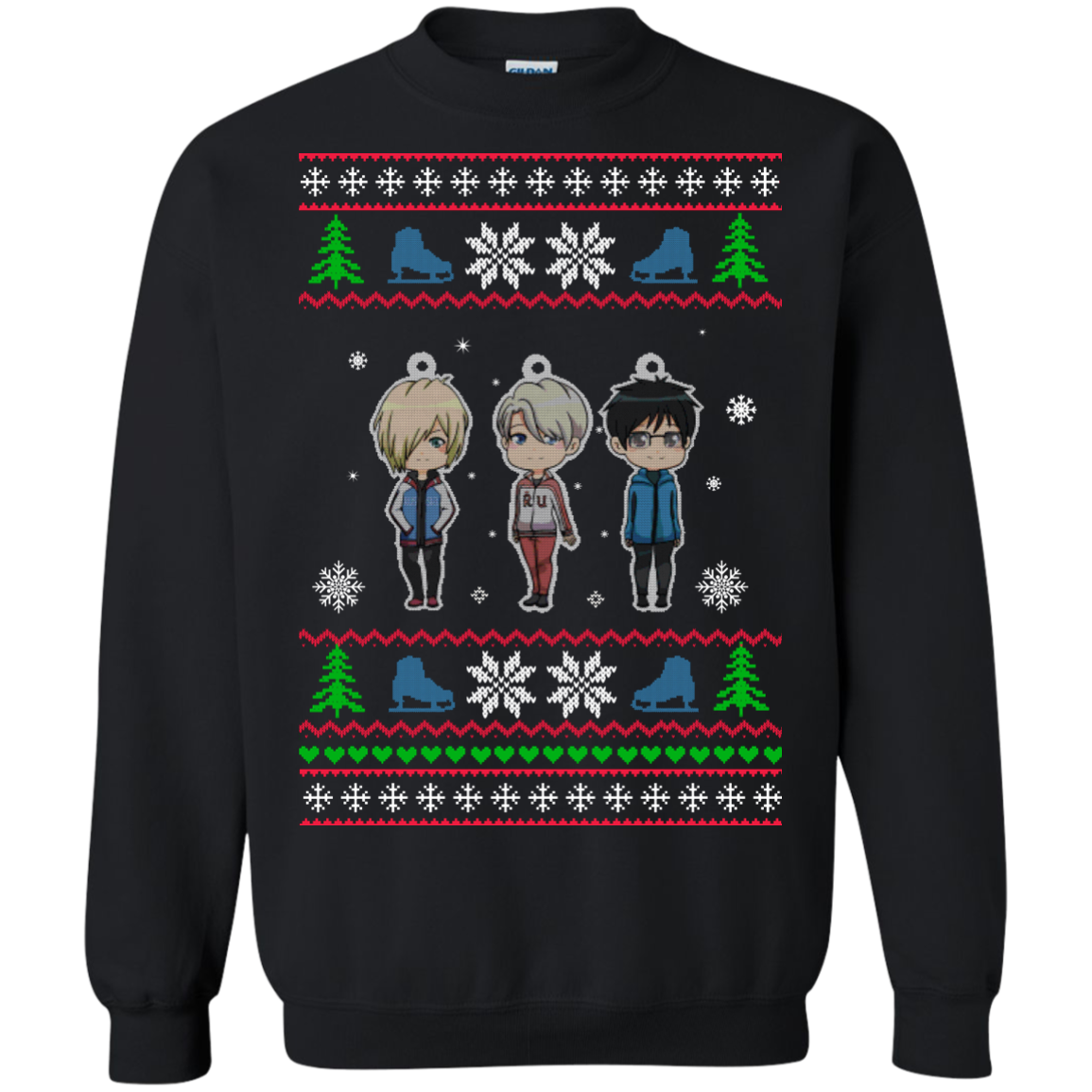 Yuri on Ice Christmas Sweater, T Shirt, Long Sleeve