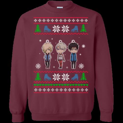 Yuri on Ice Christmas Sweater, T Shirt, Long Sleeve