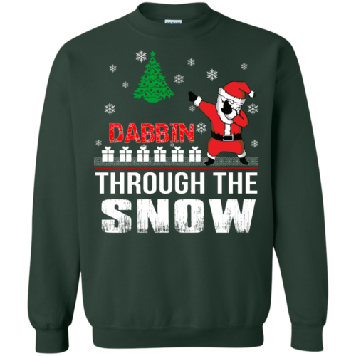 Dabbin Through The Snow Christmas Sweater